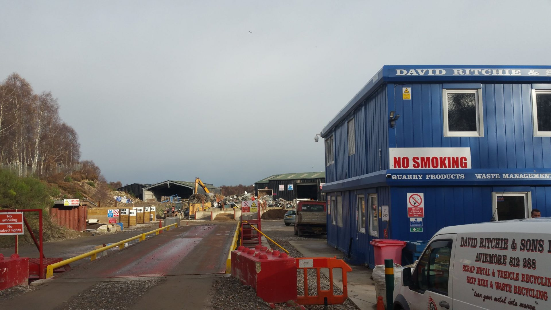 Site office and weigh bridge