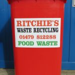 Red Food waste bin